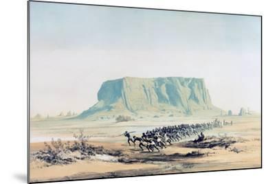 View of Mount Barkal, Sudan, 1842-1845-E Weidenbach-Mounted Giclee Print