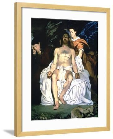 The Dead Christ and the Angels, 1864-Edouard Manet-Framed Giclee Print