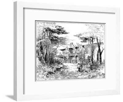 The Log House 'Idaho, Near Ringwood, Hampshire, 1898-Edward William Charlton-Framed Giclee Print