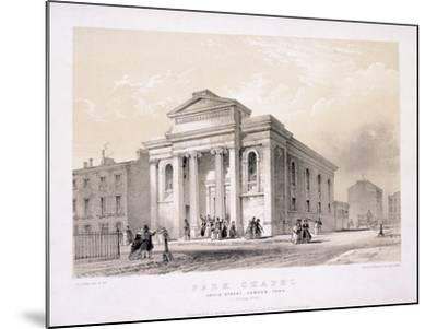 Park Chapel, Camden Town, London, C1850-Edwin Thomas Dolby-Mounted Giclee Print