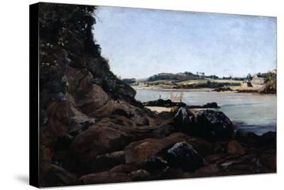 The Channel of L'Ile Tristan, 1873-Emmanuel Lansyer-Stretched Canvas Print