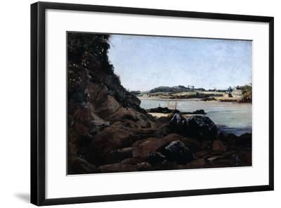 The Channel of L'Ile Tristan, 1873-Emmanuel Lansyer-Framed Giclee Print