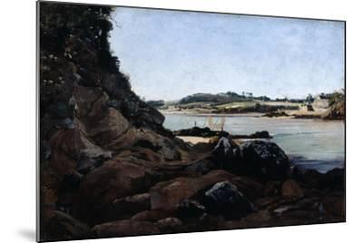 The Channel of L'Ile Tristan, 1873-Emmanuel Lansyer-Mounted Giclee Print