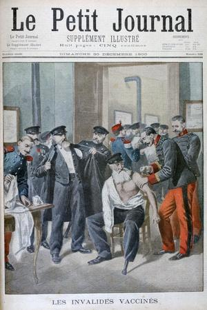 Vaccinations of the Old Soldiers, Paris, 1900-Eugene Damblans-Framed Giclee Print