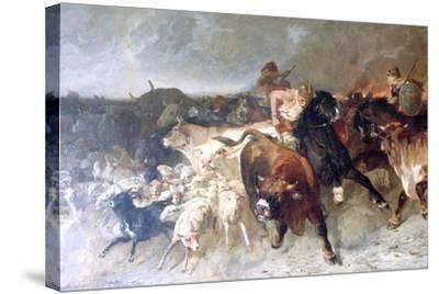 Plunderers, 1867-Evariste Vital Luminais-Stretched Canvas Print
