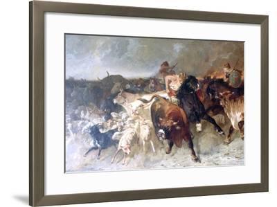 Plunderers, 1867-Evariste Vital Luminais-Framed Giclee Print