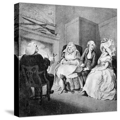 The Country Vicar's Fire Side, 1781-E Williams-Stretched Canvas Print
