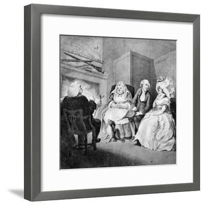 The Country Vicar's Fire Side, 1781-E Williams-Framed Giclee Print