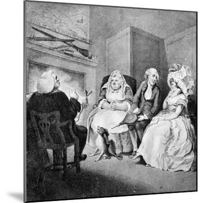 The Country Vicar's Fire Side, 1781-E Williams-Mounted Giclee Print