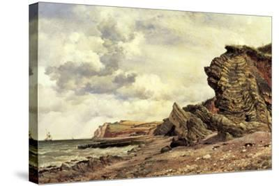 Triassic Cliffs, Blue Anchor, North Somerset, 1866-Edward William Cooke-Stretched Canvas Print