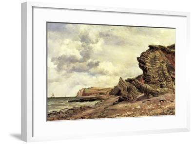 Triassic Cliffs, Blue Anchor, North Somerset, 1866-Edward William Cooke-Framed Giclee Print