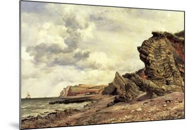 Triassic Cliffs, Blue Anchor, North Somerset, 1866-Edward William Cooke-Mounted Giclee Print