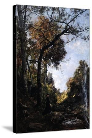 The Autumn Walk, 1869-Emmanuel Lansyer-Stretched Canvas Print