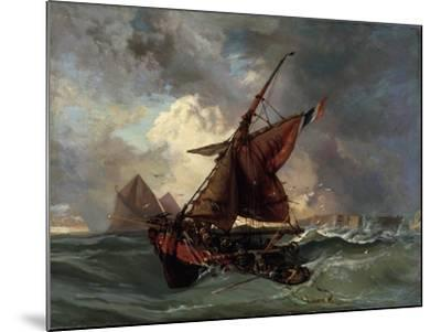 Ships in a Stormy Sea, 19th Century-Eugene Delacroix-Mounted Giclee Print