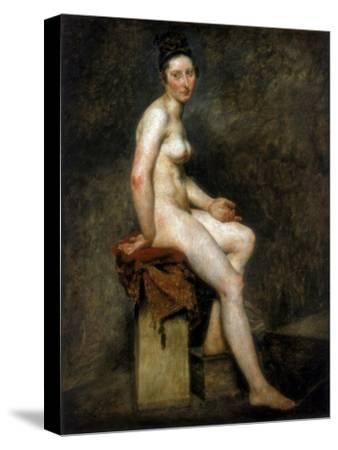 Seated Nude, Mademoiselle Rose, 19th Century-Eugene Delacroix-Stretched Canvas Print