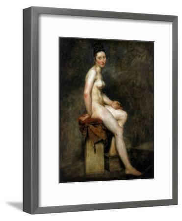 Seated Nude, Mademoiselle Rose, 19th Century-Eugene Delacroix-Framed Giclee Print