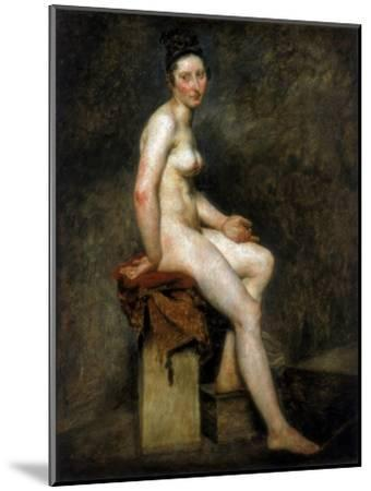 Seated Nude, Mademoiselle Rose, 19th Century-Eugene Delacroix-Mounted Giclee Print