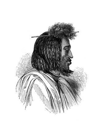 Souakiny Chief, 1848-Ebenezer Landells-Framed Giclee Print