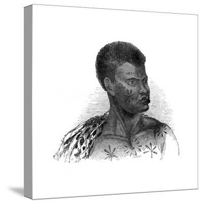 Native of Mozambique, 1848-Ebenezer Landells-Stretched Canvas Print