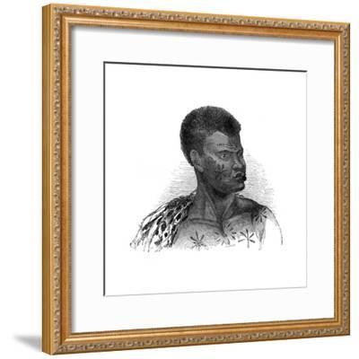 Native of Mozambique, 1848-Ebenezer Landells-Framed Giclee Print