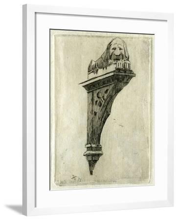 Sign of the Red Lion Inn, Glastonbury, Somerset, 1881-Edwin Edwards-Framed Giclee Print