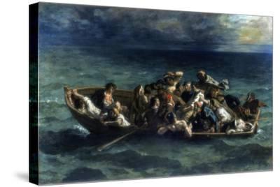 The Shipwreck of Don Juan, 1840-Eugene Delacroix-Stretched Canvas Print