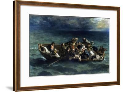 The Shipwreck of Don Juan, 1840-Eugene Delacroix-Framed Giclee Print