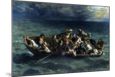 The Shipwreck of Don Juan, 1840-Eugene Delacroix-Mounted Giclee Print