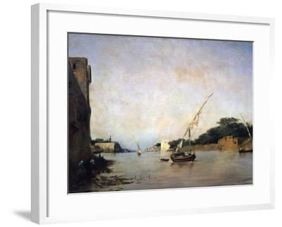 View of the Nile, 19th Century-Eugene Fromentin-Framed Giclee Print
