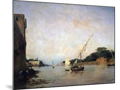 View of the Nile, 19th Century-Eugene Fromentin-Mounted Giclee Print