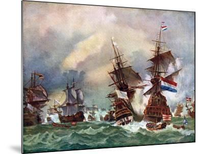 The Battle of Texel, 1673 (C192)-Eugene Isabey-Mounted Giclee Print