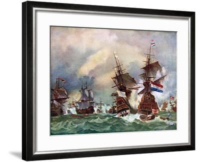 The Battle of Texel, 1673 (C192)-Eugene Isabey-Framed Giclee Print