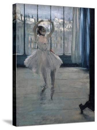 Dancer at the Photographer, 1875-Edgar Degas-Stretched Canvas Print