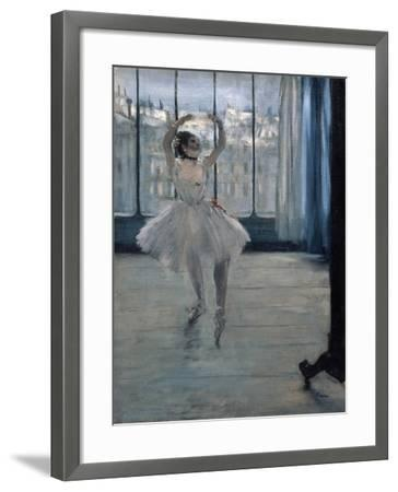 Dancer at the Photographer, 1875-Edgar Degas-Framed Giclee Print