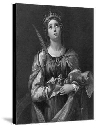 St Catherine, 19th Century-F Knolle-Stretched Canvas Print