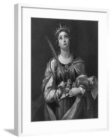 St Catherine, 19th Century-F Knolle-Framed Giclee Print