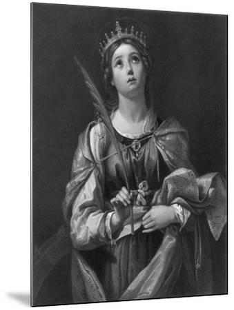 St Catherine, 19th Century-F Knolle-Mounted Giclee Print