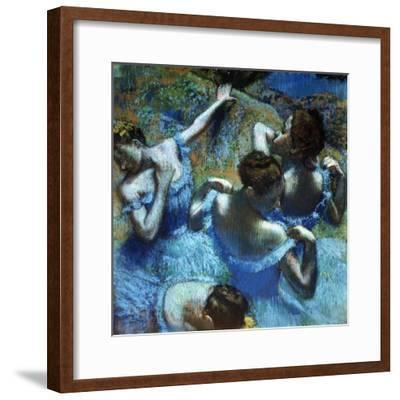Dancers in Blue, C1898-Edgar Degas-Framed Giclee Print