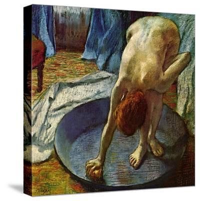Woman in a Tub, 1886-Edgar Degas-Stretched Canvas Print