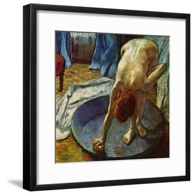 Woman in a Tub, 1886-Edgar Degas-Framed Giclee Print