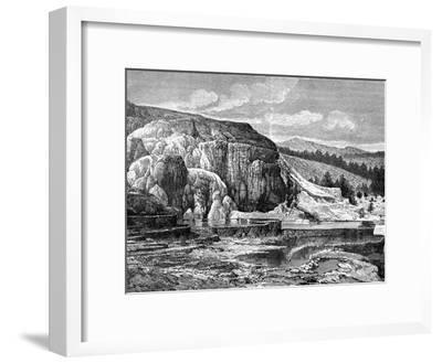 Mammoth Hot Springs, Yellowstone National Park, USA, 19th Century-Edouard Riou-Framed Giclee Print