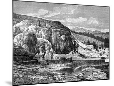 Mammoth Hot Springs, Yellowstone National Park, USA, 19th Century-Edouard Riou-Mounted Giclee Print