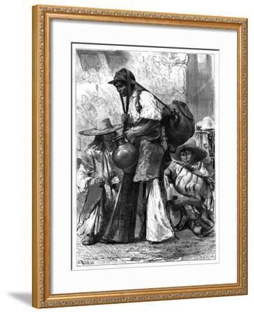 Water Vendor, Mexico, 19th Century-Edouard Riou-Framed Giclee Print