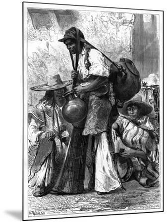 Water Vendor, Mexico, 19th Century-Edouard Riou-Mounted Giclee Print