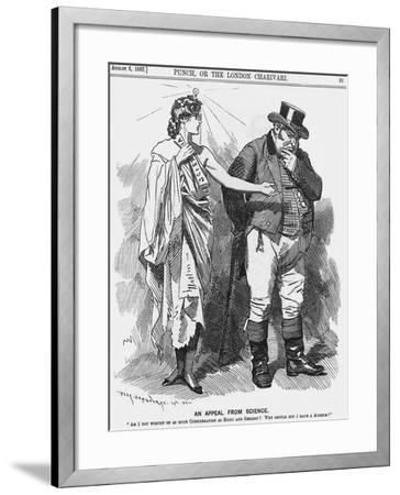 An Appeal from Science, 1887-Edward Linley Sambourne-Framed Giclee Print