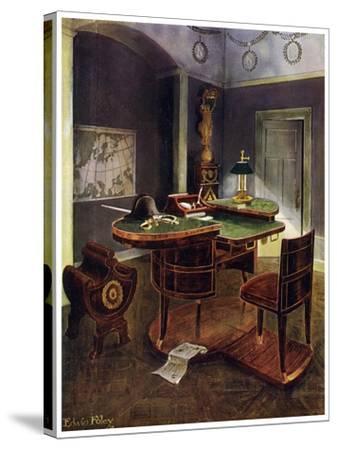 Campaign Desk of Napoleon I, Chateau De La Malmaison, France, 1911-1912-Edwin Foley-Stretched Canvas Print