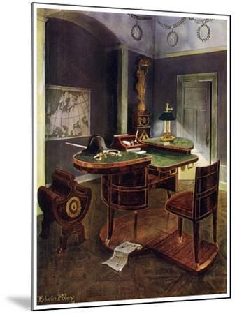 Campaign Desk of Napoleon I, Chateau De La Malmaison, France, 1911-1912-Edwin Foley-Mounted Giclee Print
