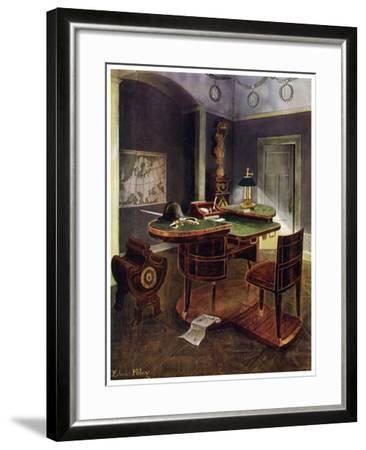 Campaign Desk of Napoleon I, Chateau De La Malmaison, France, 1911-1912-Edwin Foley-Framed Giclee Print