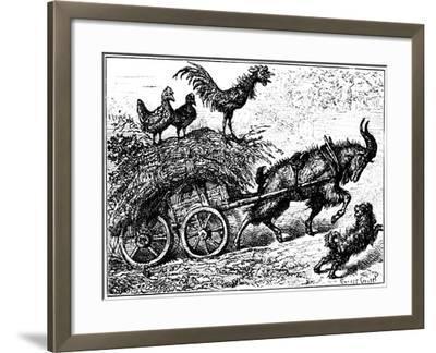 Illustration from the Children's Book Little Bo-Peep, C1880-Ernest Henry Griset-Framed Giclee Print
