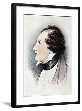Lord Byron, Anglo-Scottish Poet, Early 19th Century-Ernest Lloyd-Framed Giclee Print